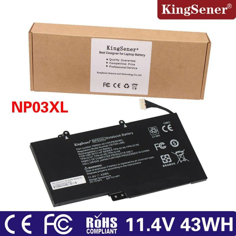 Prix pour D'origine NP03XL Batterie Pour HP Pavilion X360 13-A010DX 13-b116t Envy 15-U010DX 15-U337CL 15-U050CA HSTNN-LB6L 760944-421 43Wh