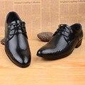 Nuevo Estilo de Los Hombres de Oxford Zapatos de Primavera Ocasionales Atan Para Arriba El Vestido Formal Del Estilo de Inglaterra Zapatos de Los Hombres 45