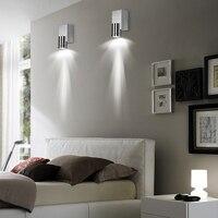 Lâmpada de parede led moderna de 1w e 3w  arandela de alumínio para casa  comércio  iluminação de quarto  decoração interior  espelho luz jq