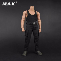 Male Black Vest Long Pants 1 6 Scale Soldier Clothing Model Toys For 12 Man Action