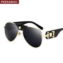 Peekaboo mens summer sunglasses women mirror retro black lens white top designer shades men high quality cool uv400