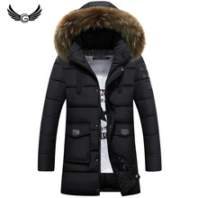 GustOmerD 2016 New Hoodied Fur Collar Winter Coat Men Fashion High Quality Winter Coat Thick Winter  Coat