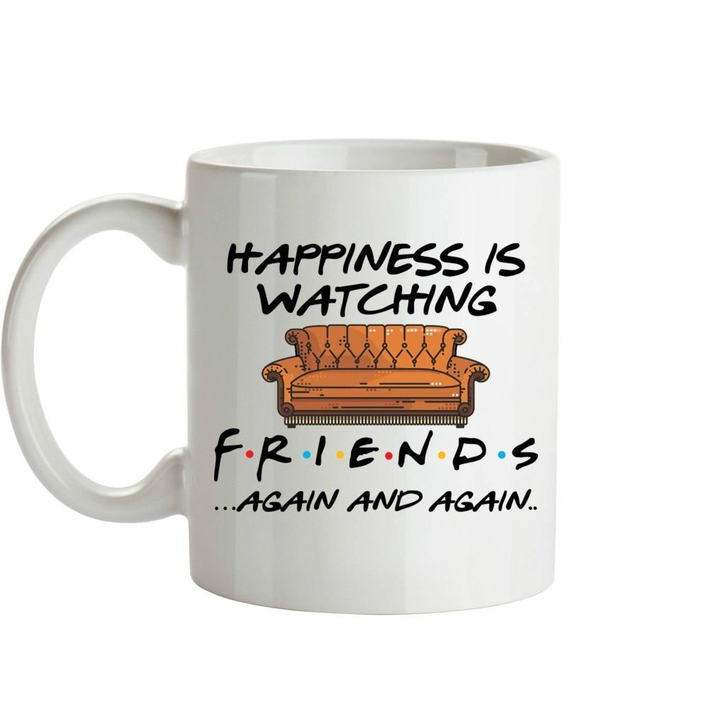 Whitelf Tv Shows Friends Mugs Travel Beer Cup Porcelain Coffee Mug Tea Cup 11oz Ceramic Mugs