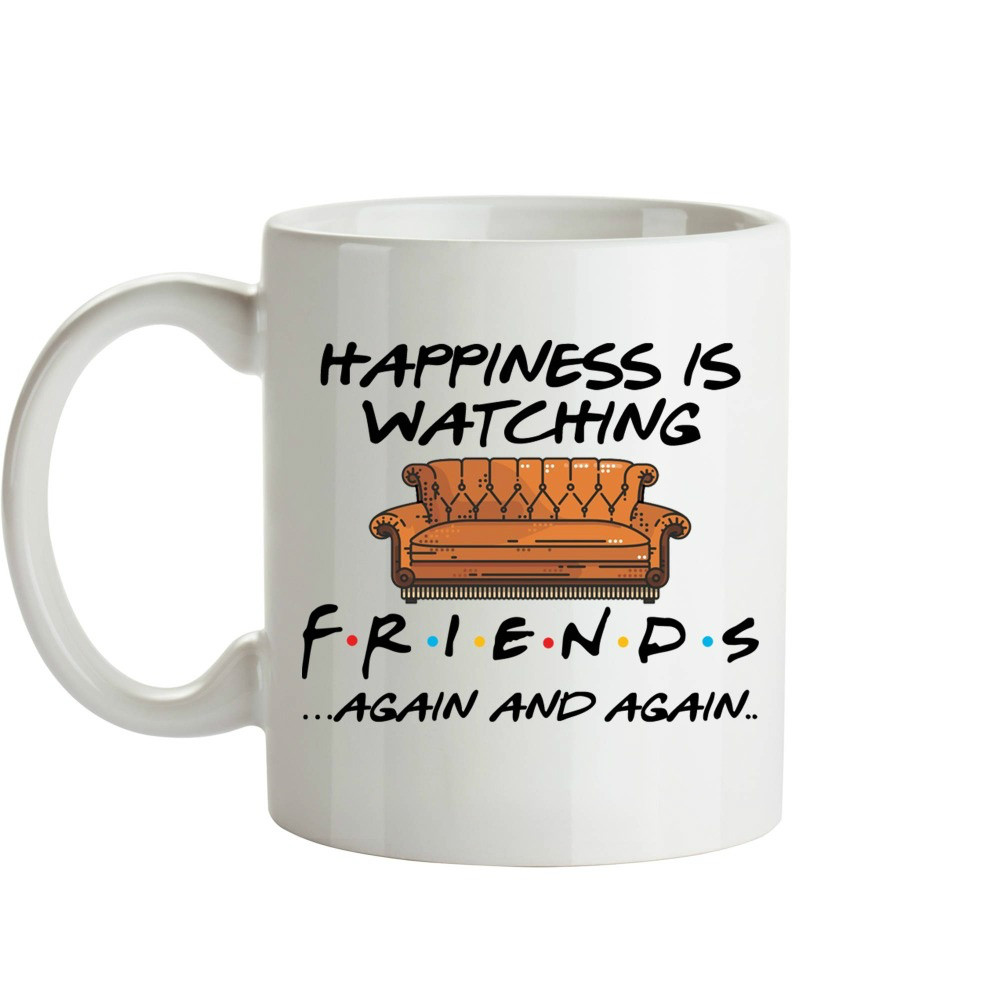 Whitelf Tv Shows Friends Mugs Travel <font><b>Beer</b></font> <font><b>Cup</b></font> Porcelain Coffee Mug Tea <font><b>Cup</b></font> 11oz Ceramic Mugs image