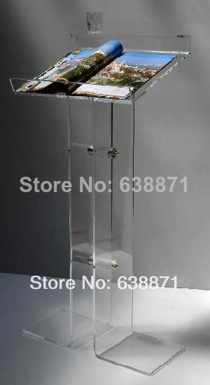 Free Shiping Clear Elegant and Durable Acrylic LecternFree Shiping Clear Elegant and Durable Acrylic Lectern
