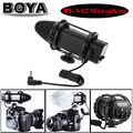 BOYA BY-V02 External Stereo X/Y Mini Condenser professional camera interview Microphone for DSLR Condenser Mic with Windshield