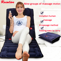 Massage mattress multifunctional heated massage cushion massage mat full body lumbodorsal massage device