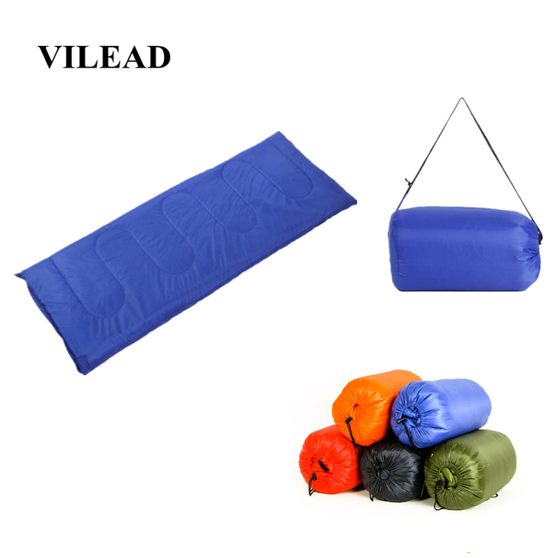 VILEAD 5 Colors Envelope type Ultralight Sleeping Bag Portable Waterproof Hiking Camping Stuff Adult Quilt Lightweight Winter-in Sleeping Bags from Sports & Entertainment