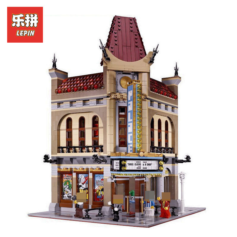 LEPIN 15006 2354pcs Creator Palace Cinema Model Building Blocks set Bricks Toys For Children LegoINGlys 10232 Christam Gifts city street series 15006 2354pcs palace cinema building blocks creator compatible legoing 10232 bricks toys gifts for children
