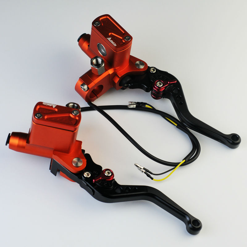 NEW orange PX6 hydraulic clutch cnc universal motorcycle brake master cylinder e-bike br ...