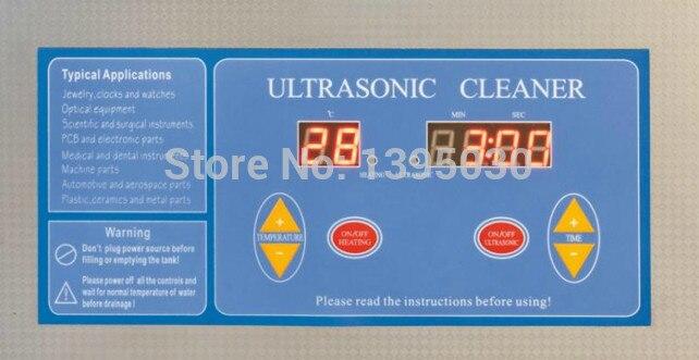 1 ST Digitale VGT 1990QTD 110/220 V Professionele Ultrasone Reiniger Sieraden Bad Huishouden 9L 200 W Gratis Mand - 2