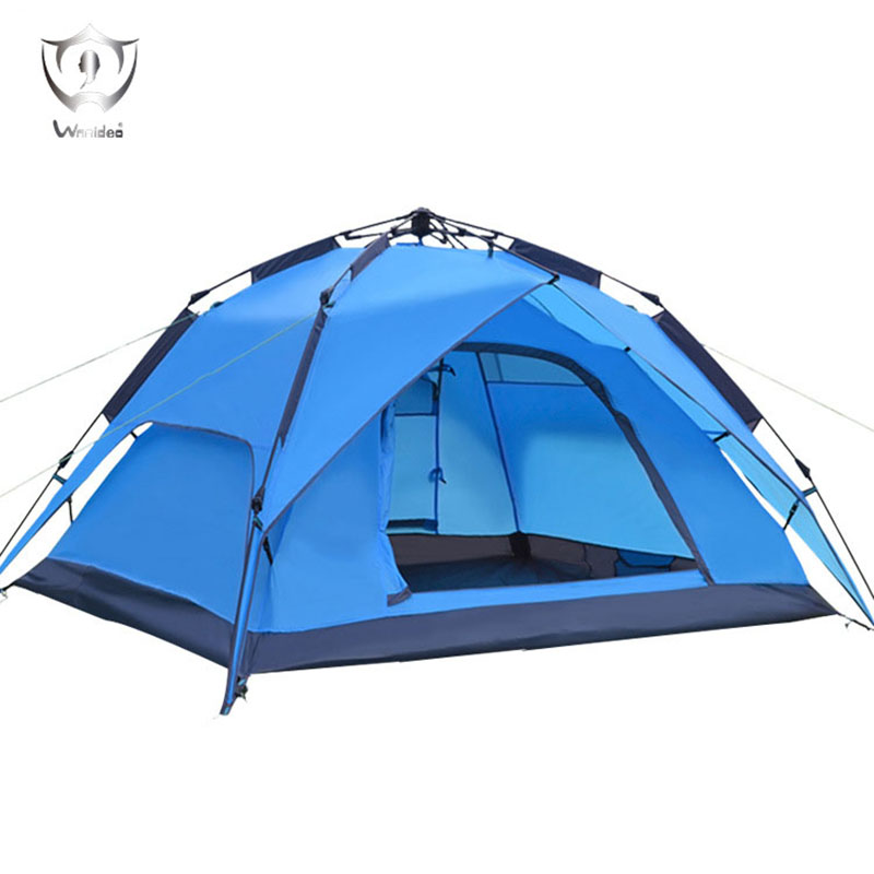 Wnnideo 3-4 Person Portable Waterproof Outdoor Camping Hiking Traveling Pop-up 3-way Tent Wholesale Ultralight Colorful high quality outdoor 2 person camping tent double layer aluminum rod ultralight tent with snow skirt oneroad windsnow 2 plus