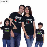family matching clothes look father mother son daughter outfits clothing tshirt mom mommy daddy and me boy girl dresses E023