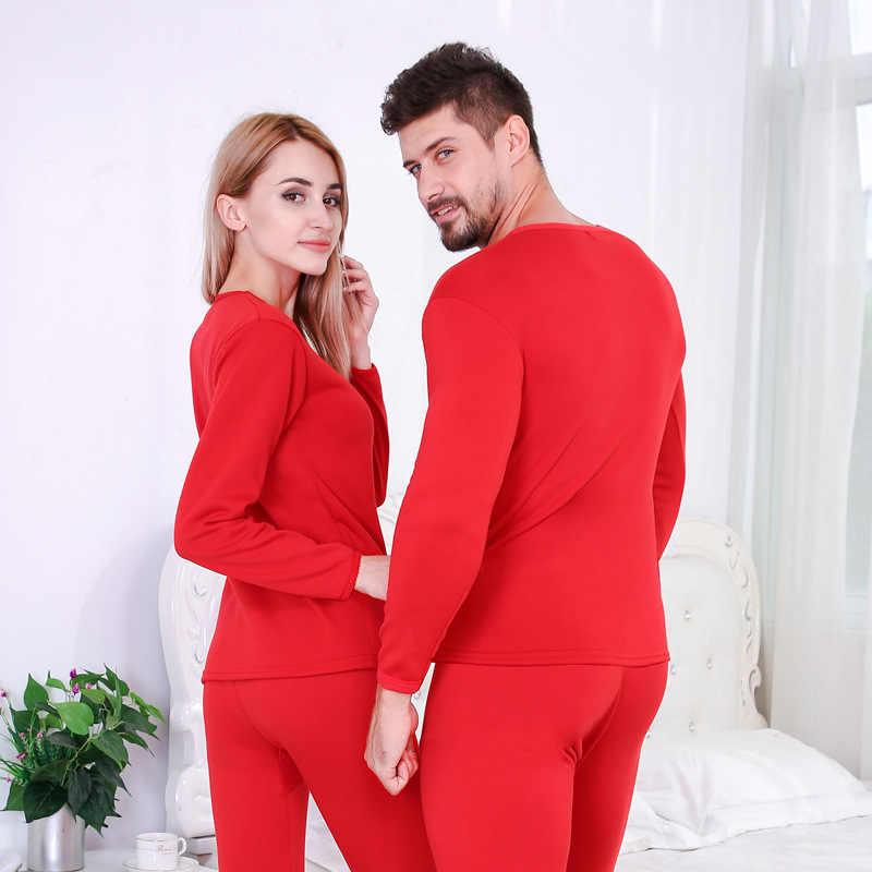 2019 зимнее бархатное толстое термобелье мужской топ + штаны теплая многослойная одежда пижамы термос мужские кальсоны женские леггинсы