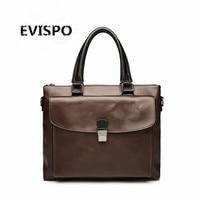 NEW EVISPO 2017 Business PU Leather Men Briefcase Men's Messenger Bags 14