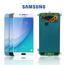 Orijinal 5.2 ekran SAMSUNG Galaxy c5 pro c5010 LCD dokunmatik Digitizer sensörü cam meclisi için 5.2 galaxy C5 Pro