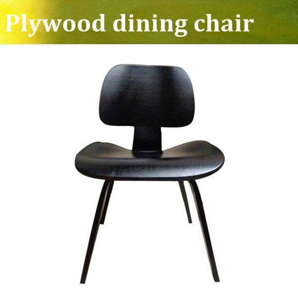 Бесплатная доставка U-BEST высокое качество Emes дерева стул дизайнер стул спинкой стул кофе