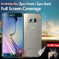 Protector de pantalla completa para samsung galaxy s6 edge plus s7 edge front y back clear tpu película protectora 2f + 1b + caso