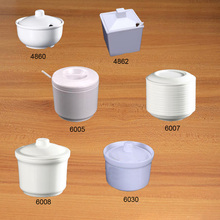 New Fashion Tureen Melamine Tableware Round Seasoning Chain Restaurant With A5