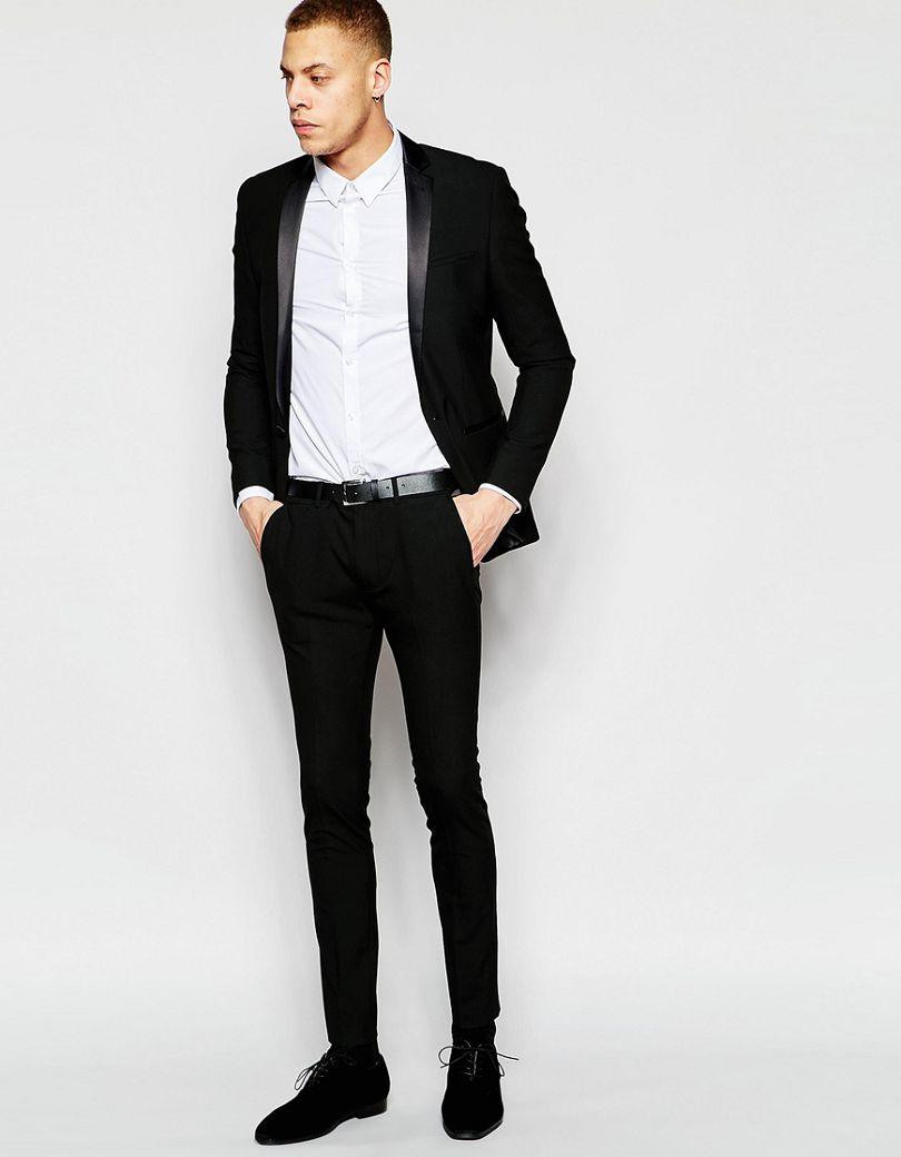 Traje de chaqueta negro