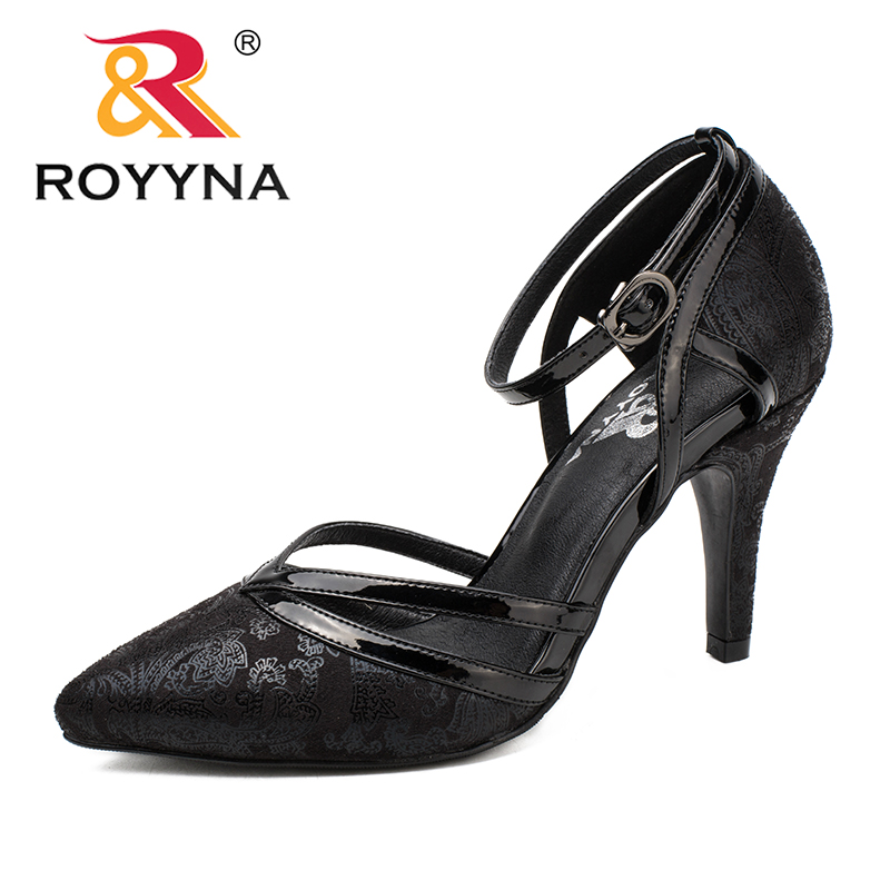 ROYYNA New Fashion Style Women Pumps Pointed Toe Women Dress Shoes High Heels Lady Wedding Shoes Comfortable Fast Free Shipping royyna new sweet style women sandals cover heel summer gingham women shoes casual gladiator ladies shoes soft fast free shipping