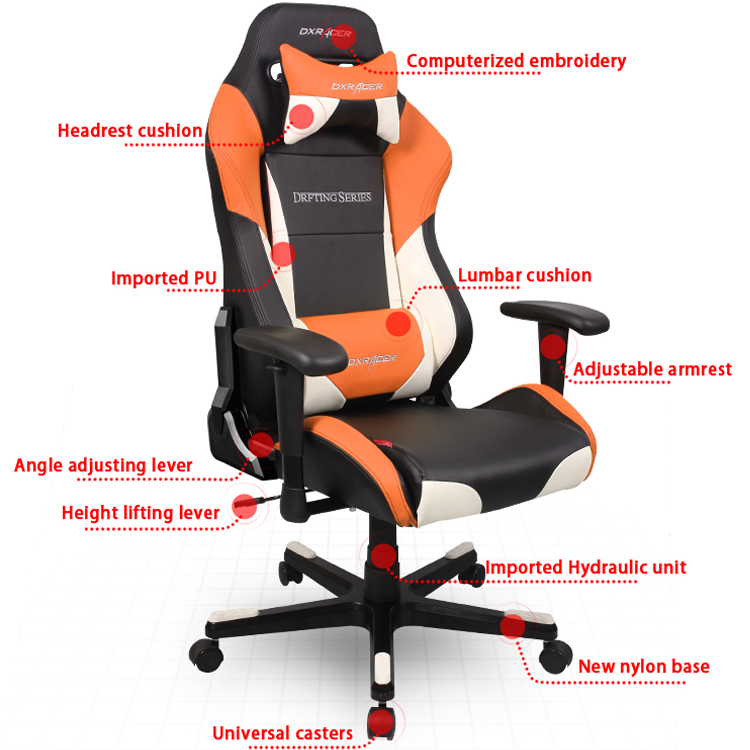 US $738 0 |DXRacer OH/DF61/NWO Office PC Gaming Ergonomic Chair Computer  eSports Desk Executive Chair Furniture with Free Cushions-in Office Chairs