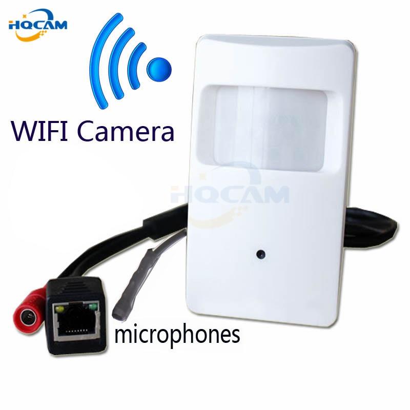 HQCAM HI3518C 720P WIFI Pir Motion mini ip Camera PIR Shape mini WiFi Camera PIR IP