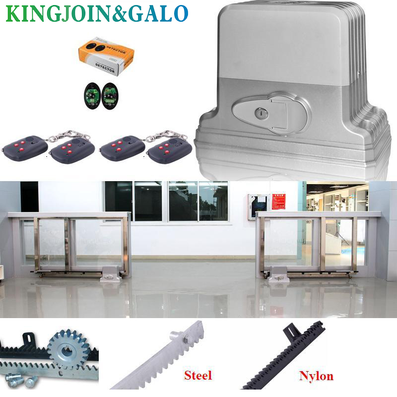 Sliding gate operator moving gate weight 1800kg,  1 motor + 1 sensor +5 meter track+5 remote control free shipping