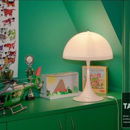 Müasir Panthella Masaüstü Lampa Ağ Masa Çırağı Yaşayış - Daxili işıqlandırma - Fotoqrafiya 1