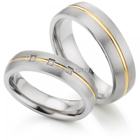 western Europe custom his and hers lover bridal rings titanium wedding band rings sets for men and women titan trauringe