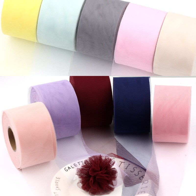 DIY girls hair jewelry 1 ROLL 4/6/10cm(5meter) Length new net yarn material for DIY Necklace Bracelet Headwear