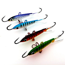 4pcs 18g 83mm color Spoon Metal Lures Ice Fishing Lures Brand Hard Bait Fresh Water Bass Walleye Crappie Fishing Tackle 023