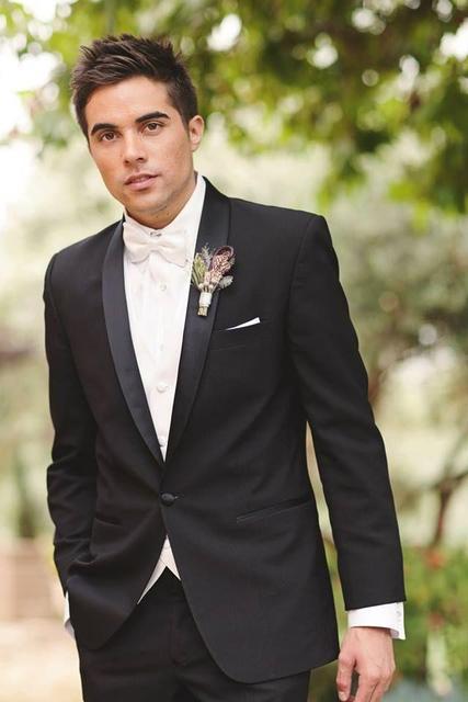 Жених свадебный костюм мужской одна кнопка шаль женихов смокинги черные дети смокинги куртка + брюки