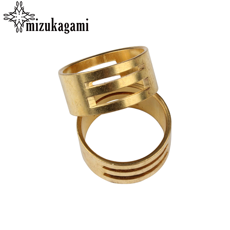Free Shipping 10 PCs/pack Golden Metal Ring Diy Jewelry Tools For Jump Ring Opening Closing Finger Tool 19x8.5mm