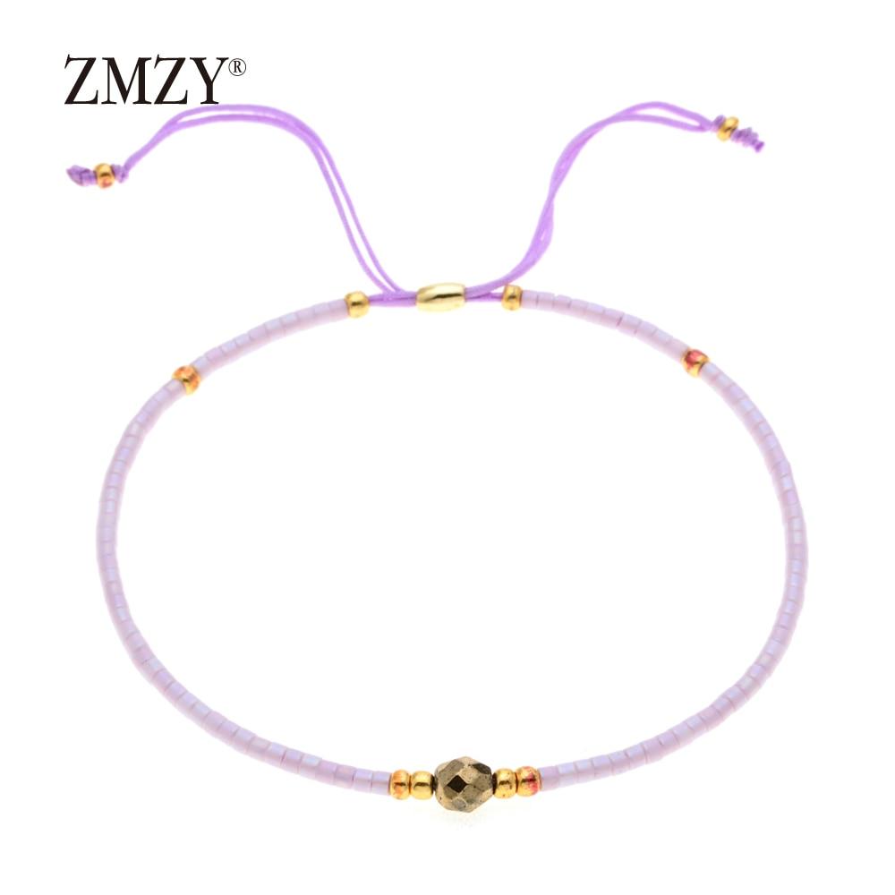 ZMZY Miyuki Delica, бисер, женские браслеты, ювелирные изделия дружбы, модные, сделай сам, Bijoux Femme, простые браслеты, Прямая поставка - Окраска металла: QSSL003-4