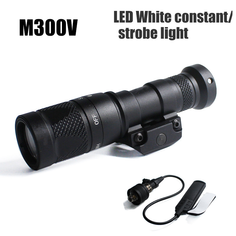 Tactical  M300V Mini Scout Light Weaponlight 400 Lumens Output Constant/Momentary/Strobe Flashlight For Hunting