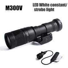 Tactische M300V Mini Scout Light Weaponlight 400 Lumen Constante/Momentary/Strobe Zaklamp voor de Jacht