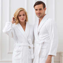 Men's Robe Cotton Thick Long Winter Kimono Robe White Plush Lengthened Shawl Bathrobe Home Clothes Long Sleeved Robe Coat ropa - DISCOUNT ITEM  31% OFF All Category