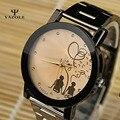 YAZOLE Любители Часы Женщины Мужчины Часы 2016 Женщина Мужчина Часы Из Нержавеющей Стали Наручные Часы Дамы Кварцевые часы Relogio Feminino