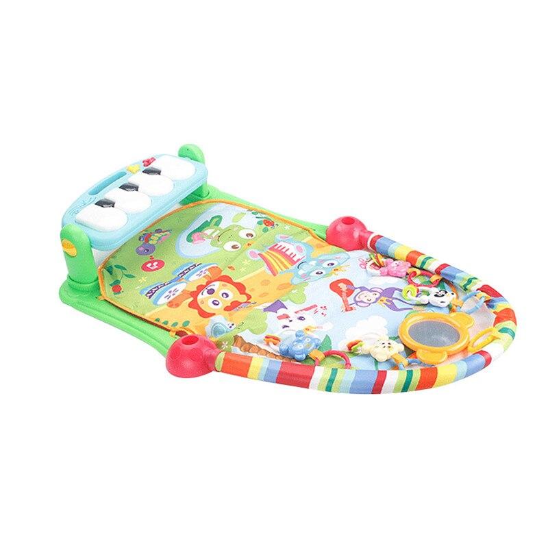 3 en 1 enfants Fitness Rack tapis jouets éducatifs bébé musique jouer tapis avec Piano clavier intérieur bébé tapis imperméable à l'eau jeu