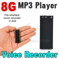 New 3 in 1 Stereo MP3 Music Player + 8GB Memory Storage USB Flash Disk Drive + 8G Mini Digital Audio Voice Recorder Dictaphone