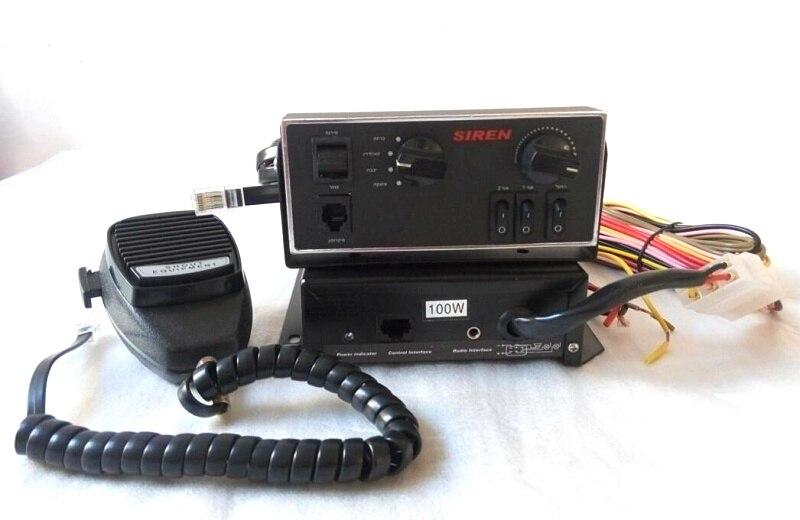 Выше Star 100 Вт полицейская сирена усилители скорой помощи пожарной сирены автомобиля охранной сигнализации с панели управления + microhone (без д...