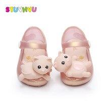 5fce7e313671f Niñas sandalias de oro lindo animal de dibujos animados oso bebé 2018 nueva  moda transpirable zapatos