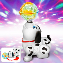 Buy Electric interactive toys children's young toys electric dog innovation dynamic music dance rotate 360 degrees  3D light directly from merchant!