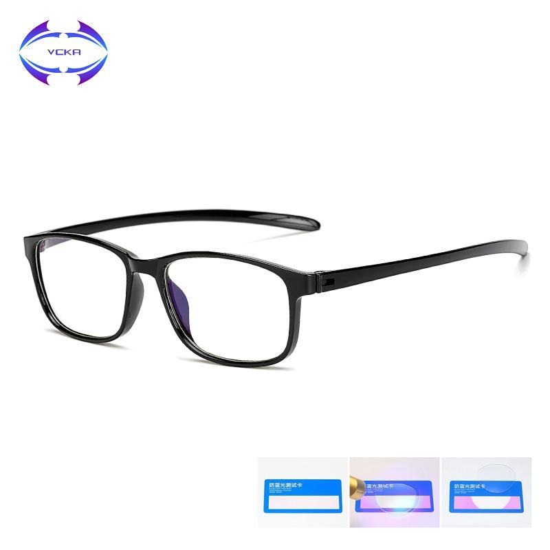 VCKA TR90 Blue Light Glasses Men Computer Glasses Gaming Goggles Transparent Eyewear Frame Women Anti Blue Ray Eyeglasses