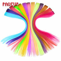Pageup Synthetische Haar Extensions Mit Clip Hitze Beständig Haar Extensions Regenbogen Haar Für Kinder Und Frauen Wellig Stil