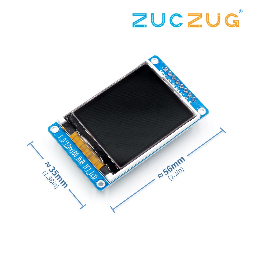 1.8 Inch Full Color 128x160 SPI Full Color TFT LCD Display Module ST7735S 3.3V Replace OLED Power Supply For Arduino DIY KIT