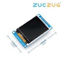 Módulo de tela lcd tft, 1.8 polegadas, cor completa, 128x160 spi, substituição de energia oled fonte para arduino kit diy