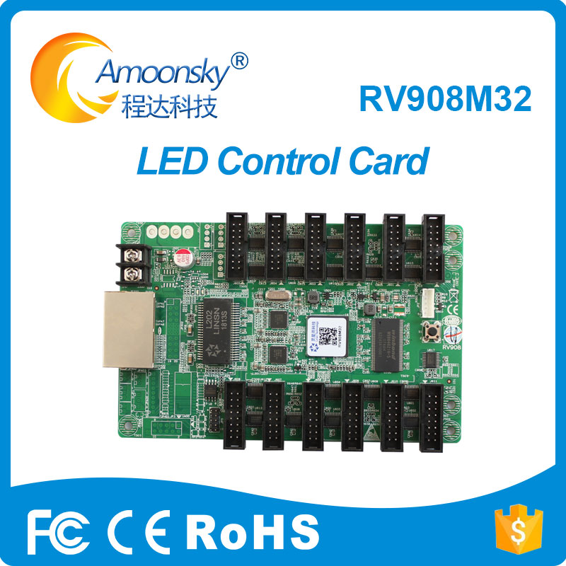 Accessories & Parts Amoonsky Linsn Rv908 Rv908m32 Video Display Receiving Card 12xhub75 Ports Support P2/p2.5/p3 Indoor 1/32 Scan Led Screen Module Non-Ironing
