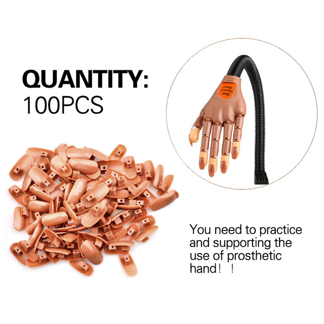 100pcs Replace False Nails Professional Nail Technician Training Tools You Can Practice Activities Prosthetic